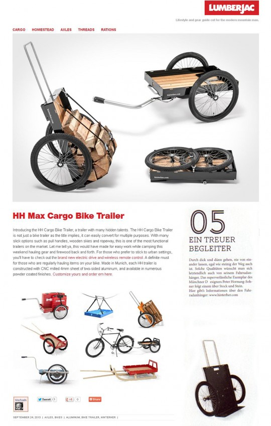 Ultimate Cargo-Bike-Trailer high quality german product